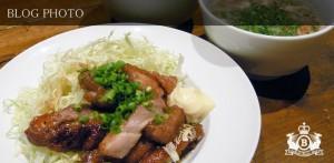 大山地鶏南蛮唐揚げ濃厚ソースと根菜たっぷりのわかめスープ