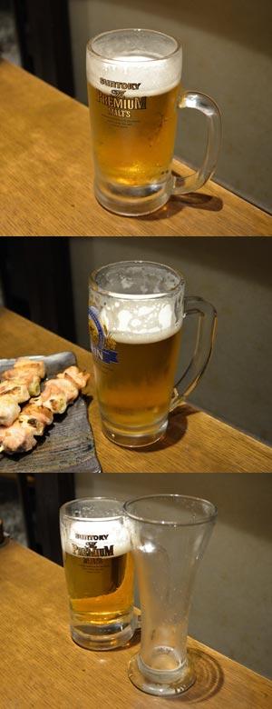 居酒屋の都市伝説、中生ビールと小生ビールの量の比較