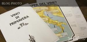 プラナバルカのイタリアの地図を使った春のおすすめワインメニュー