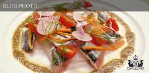 銀座京橋フレンチイタリアン居酒屋東京バルバリの新さんまのカルパッチョ 夏大根のラぺ 肝のヴィネグレットソース
