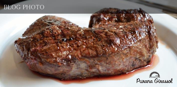 茅場町水天宮前のアメリカン居酒屋プラナジラソルの400gのビッグなアンガス牛ステーキ1500円