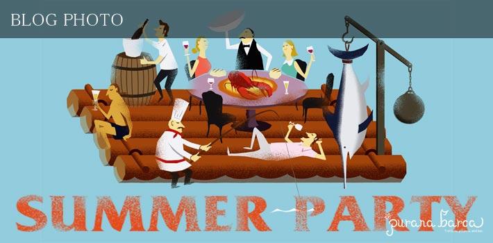 茅場町水天宮前のピッツァイタリアンプラナバルカのサマーパーティー