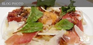 銀座京橋フレンチイタリアン居酒屋東京バルバリの冷製つくね芋のカルボナーラ、カッペリーニ