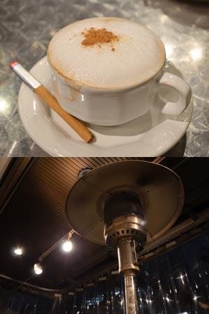株式会社DADのオフィシャルブログ恵比寿カフェ外席ガスストーブ