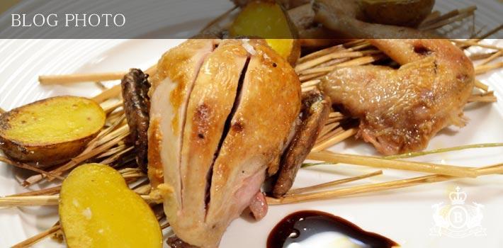 京橋フレンチイタリアン居酒屋東京バルバリうずらの丸焼き藁の香りヴィンコットソース