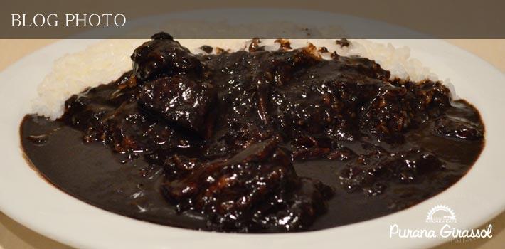 水天宮前茅場町貸切洋食居酒屋プラナジラソルの黒いビーフのB3カレー